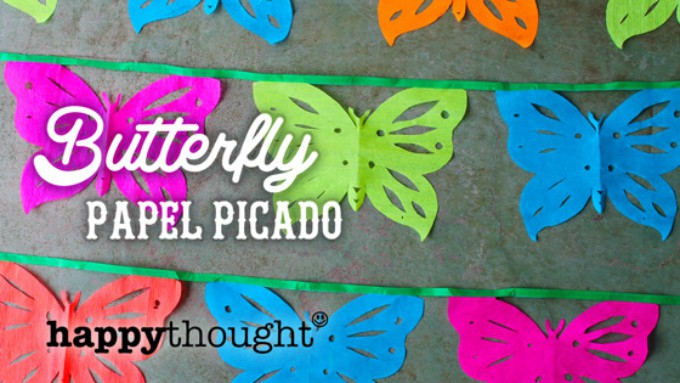 butterfly papel picado