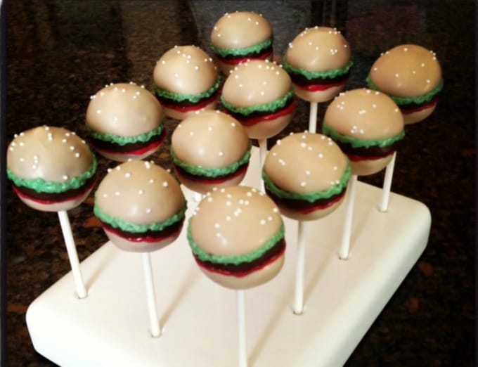 hamburger cake pops