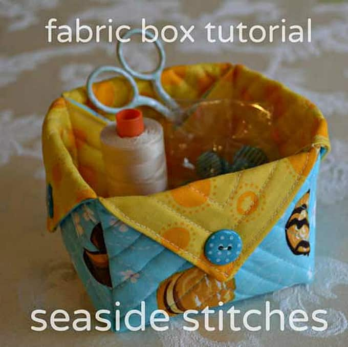 fabric sewing box