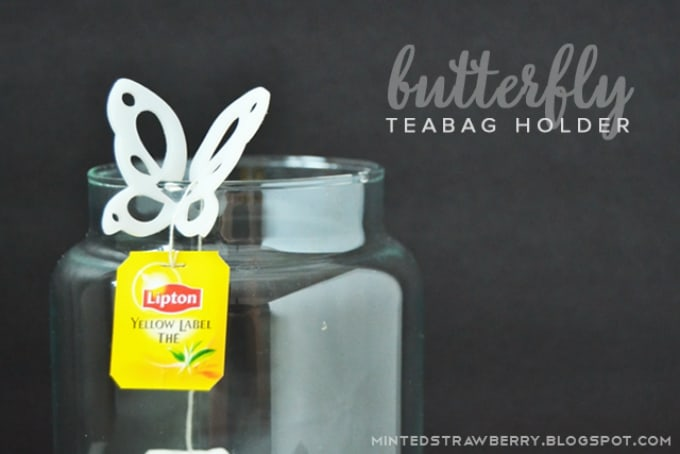 butterfly teabag holder