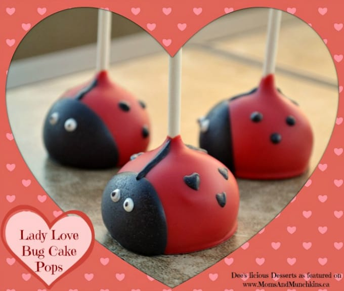 lady love bug cake pops