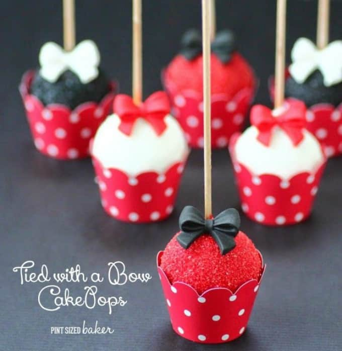 tied with a bow cake pops