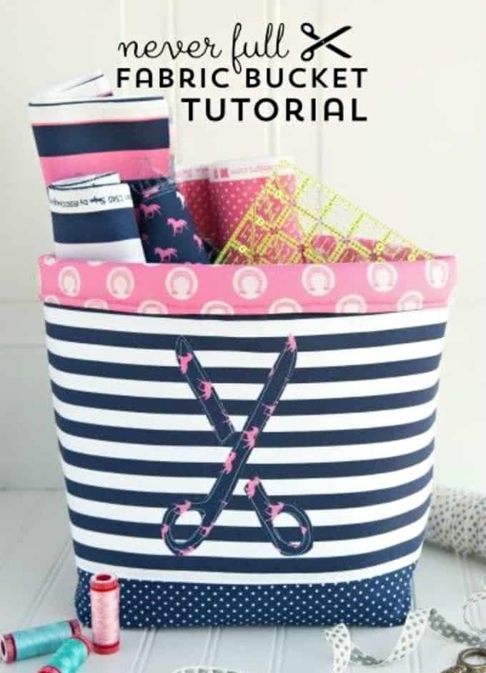sewing fabric basket