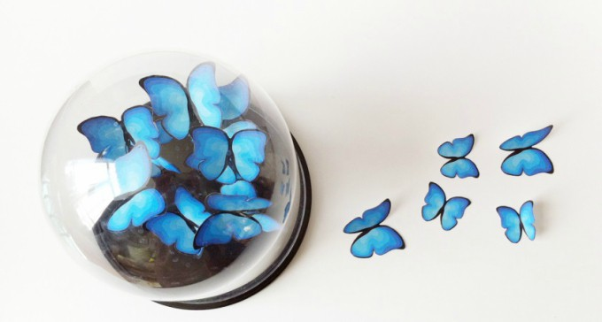 paper butterfly display