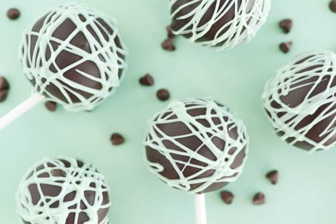 mint chocolate chip cake pops