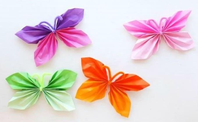 folded paper butterfly