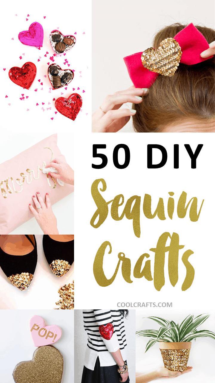 50 DIY Sequin Crafts -