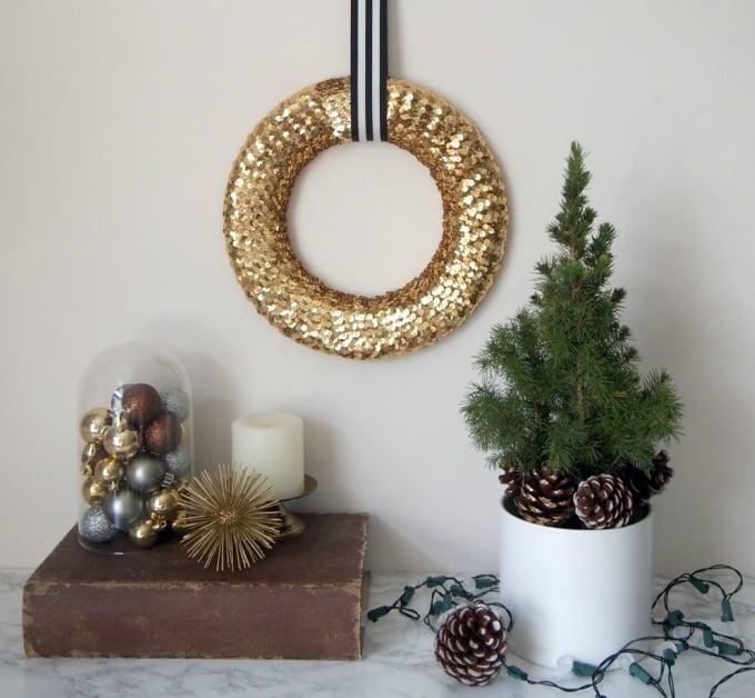 diy sequin wreath