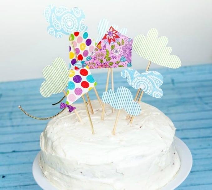 kite cake topper