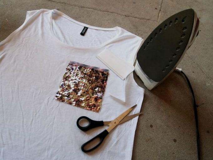DIY sequin pocket