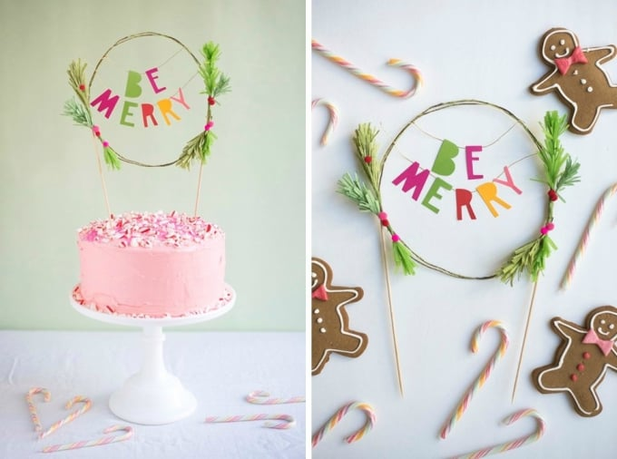 holiday cake topper
