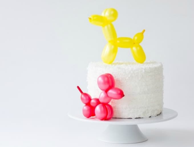 balloon dog cake toppers