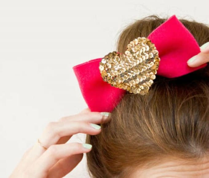 sequin heart headpieces