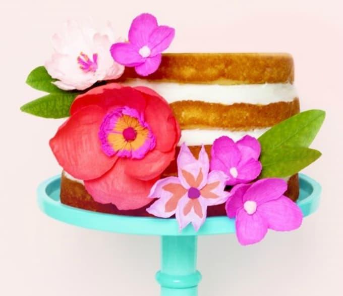 paper flower cake topper