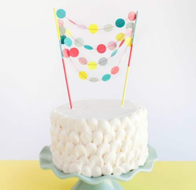 garland cake topper