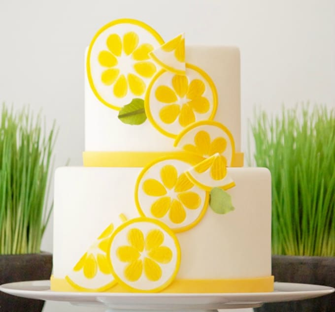 lemon cake toppers