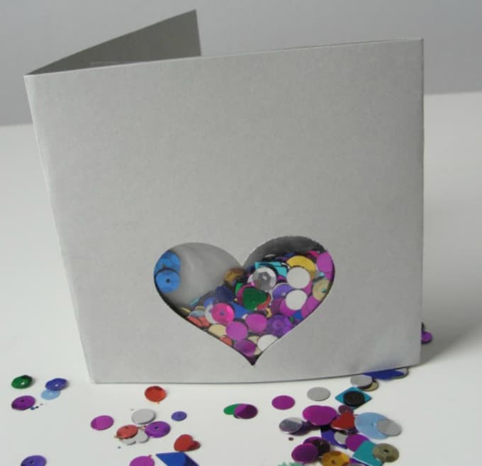 custom sequin card
