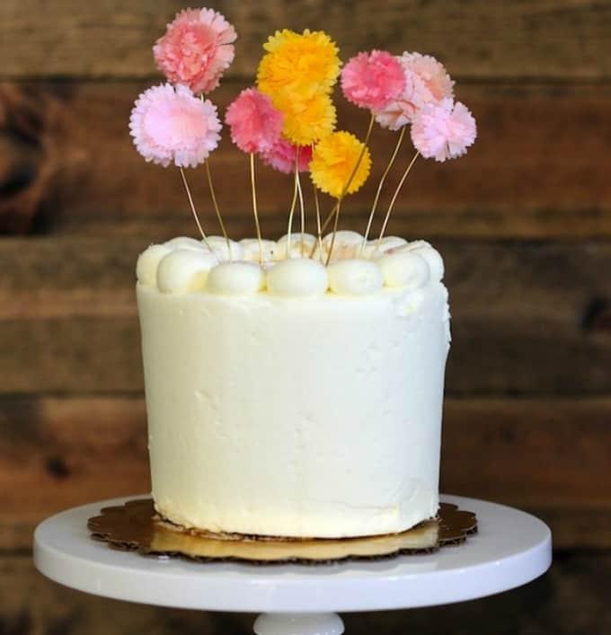 flower cake topper