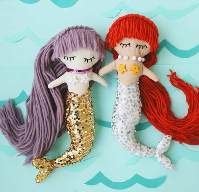 mermaid plush dolls