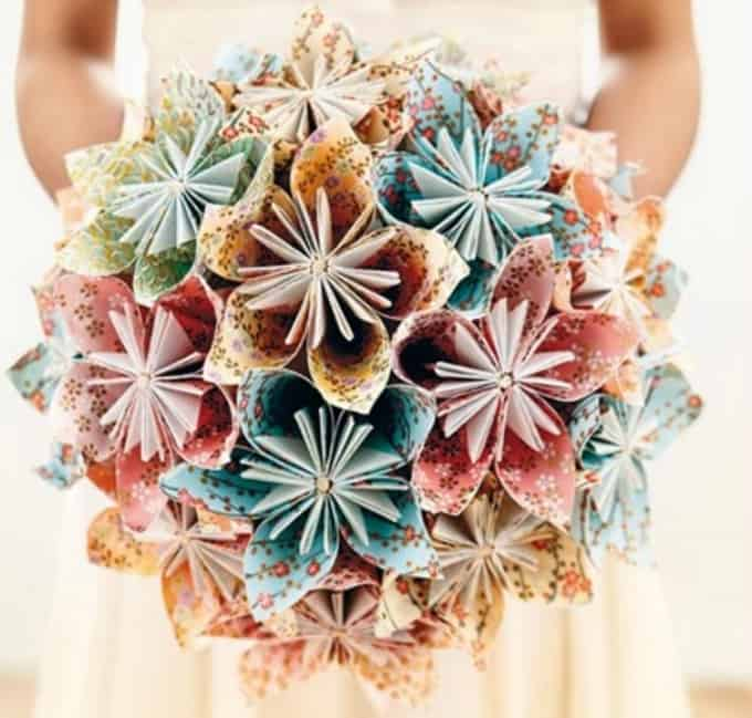 origami flower bouquet