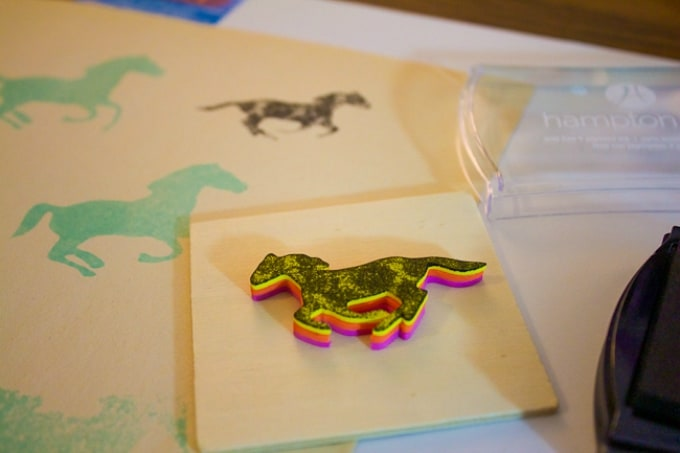 diy horse stamps