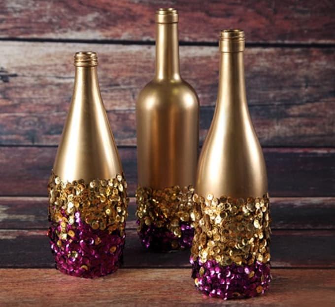 sequin bottles