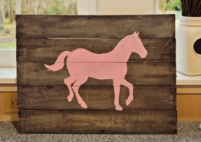 palette board horse sign