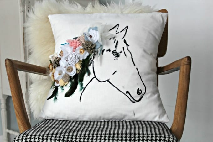 Anthropologie horse pillow