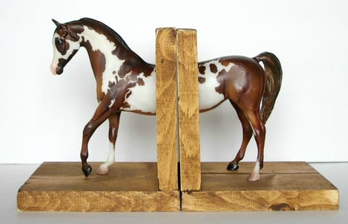 DIY horse bookends