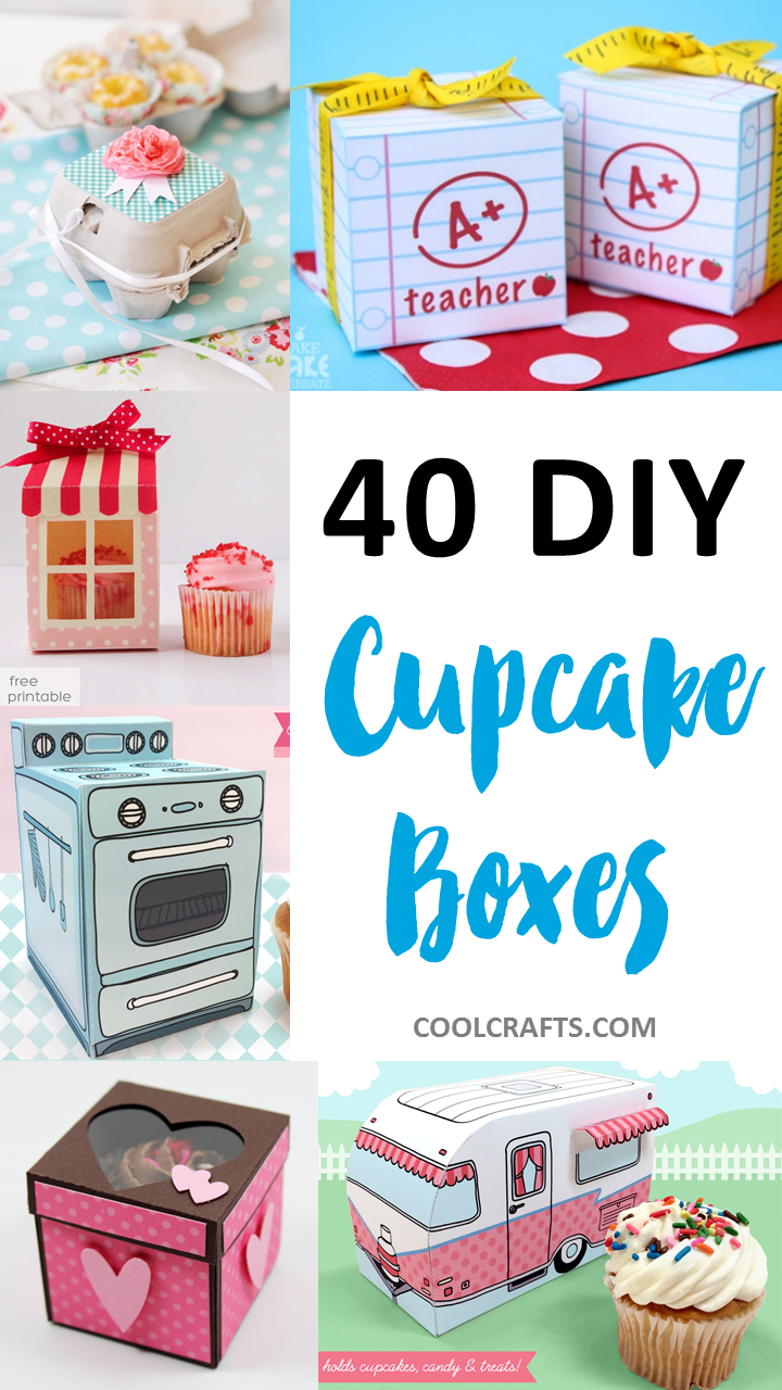 Cupcake Boxes: 40 DIY Ideas to Package Your Cupcakes