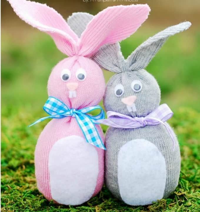 Easter sock bunnies