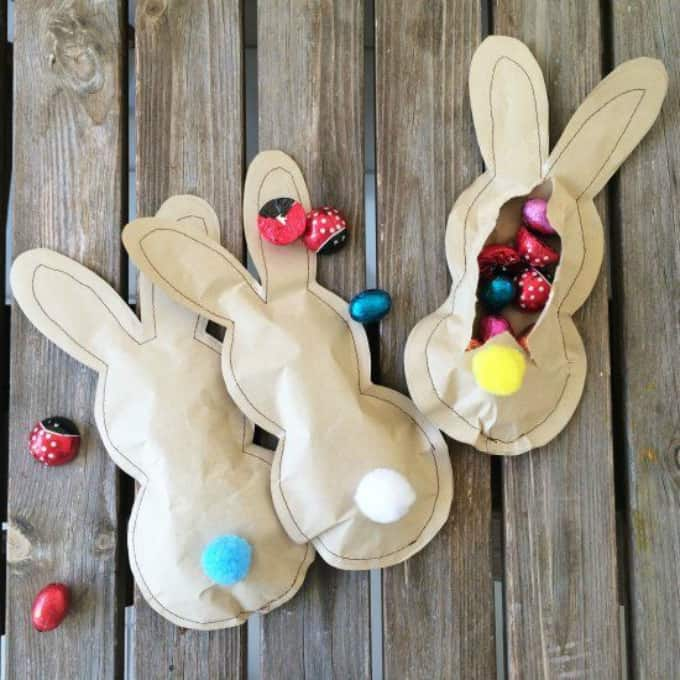 DIY bunny party favors