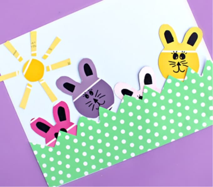 paint chip bunny craft