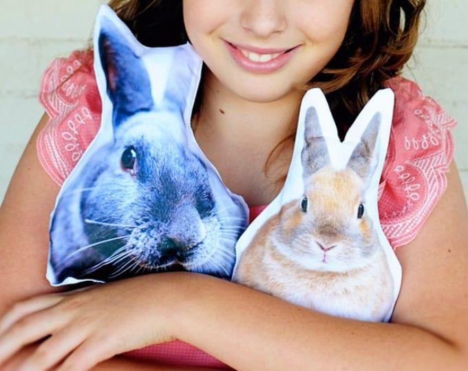 DIY bunny cushions