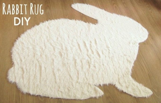 diy rabbit rug