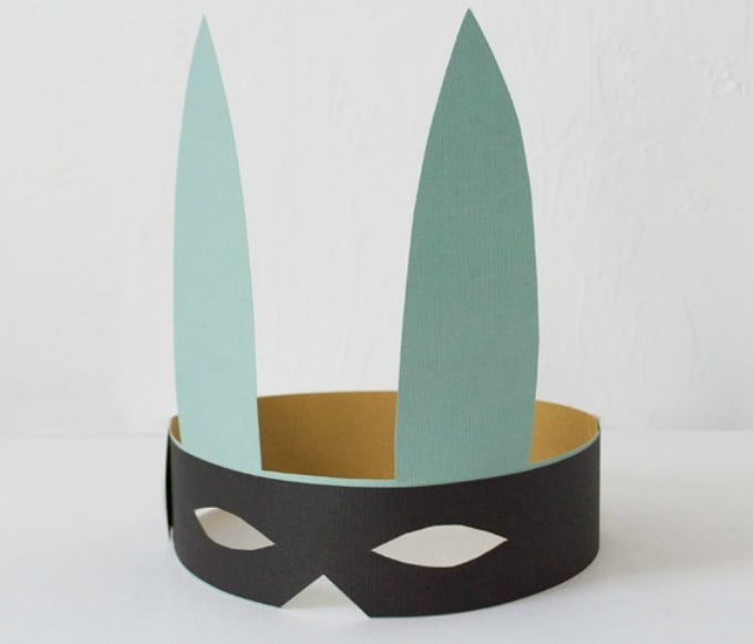 DIY bunny masks