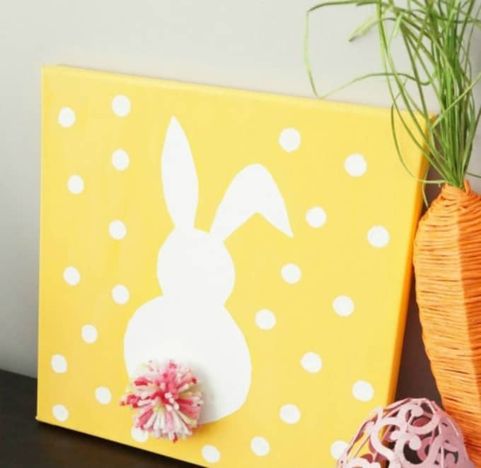 DIY bunny canvas art