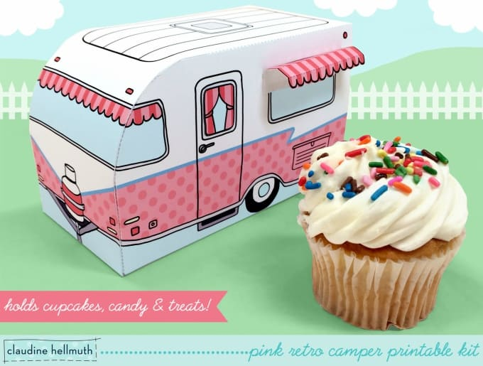 camper cupcake box holds