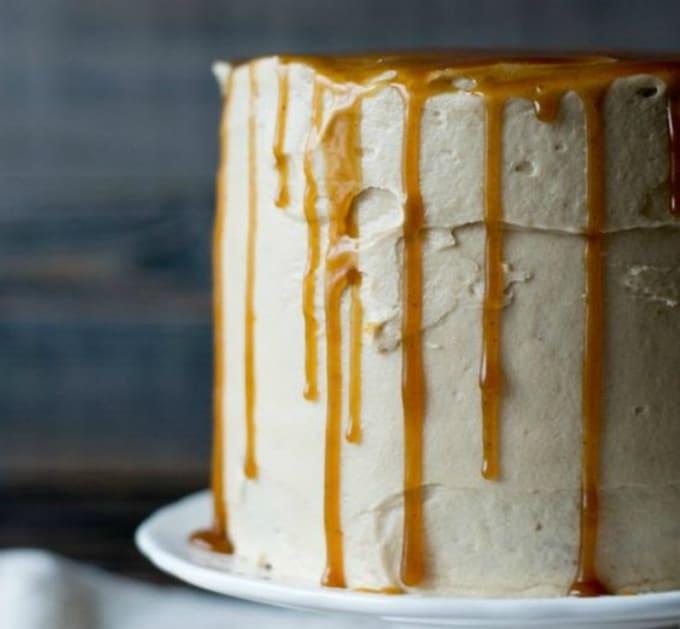 butterbeer drip cake