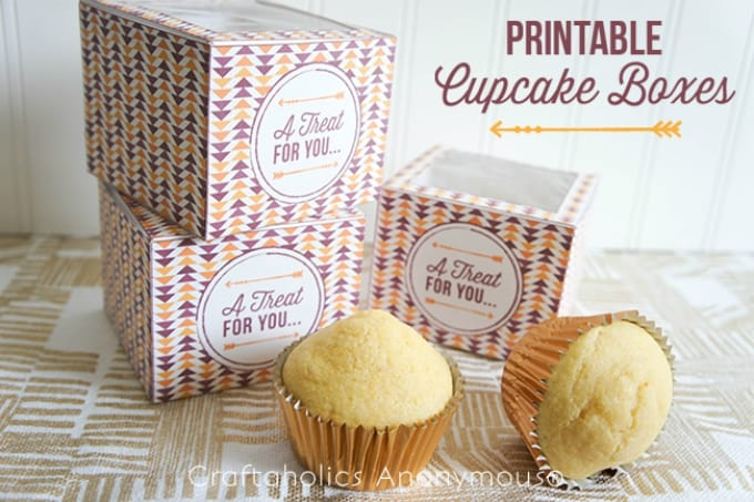 printable cupcake boxes