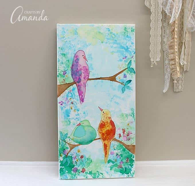 Tissue Paper Bird Canvas