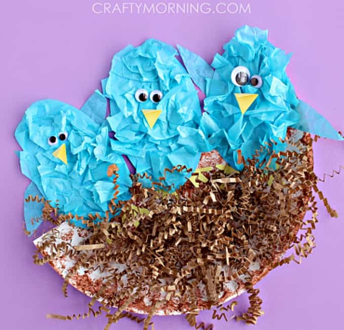 tissue paper blue birds
