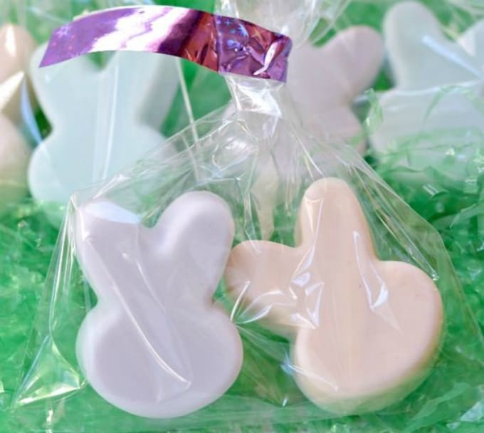 soaps shaped as bunnies