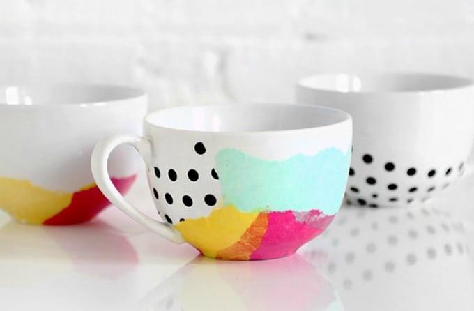 tissue paper mug