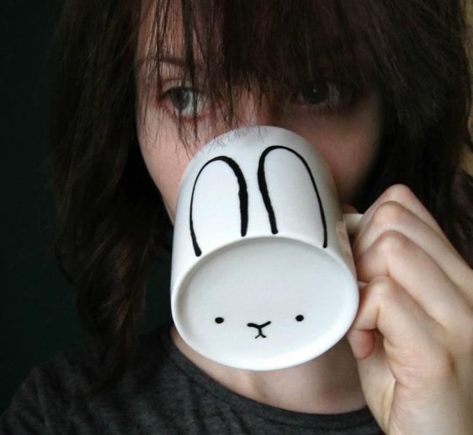 DIY bunny mug