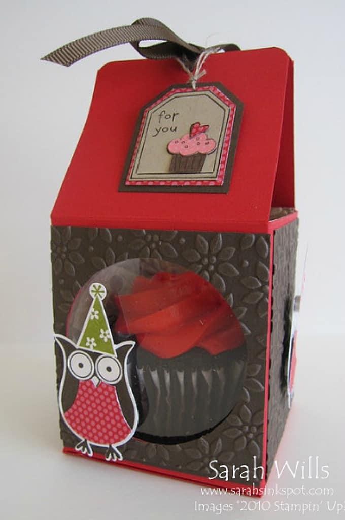 owl cupcake box