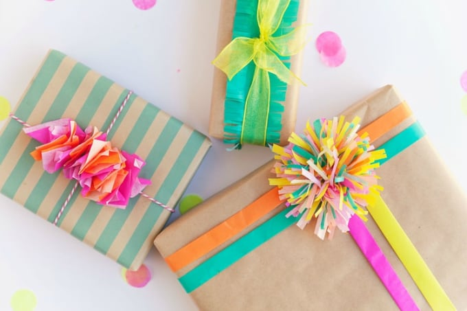 tissue paper to wrap presents
