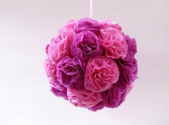 tissue paper floral clusters
