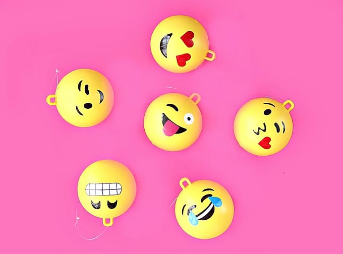 emoji Christmas tree ornaments