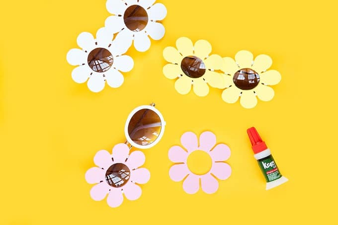 DIY daisy sunglasses